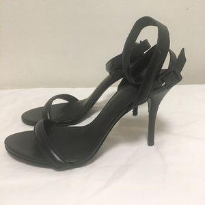 Alexander Wang Antonia Black Ankle Strap Sandals
